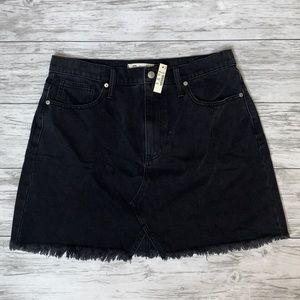 Madewell Rigid Denim A-Line Skirt Size 31 NWT